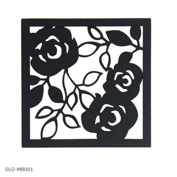 【壁面装飾】ローズパネルB W200×H200 SU2‐MB001 お庭にも 壁 の 装飾 に 上品な アイアン の ウォールパネル を お求めやすい価格で!【送料無料!】