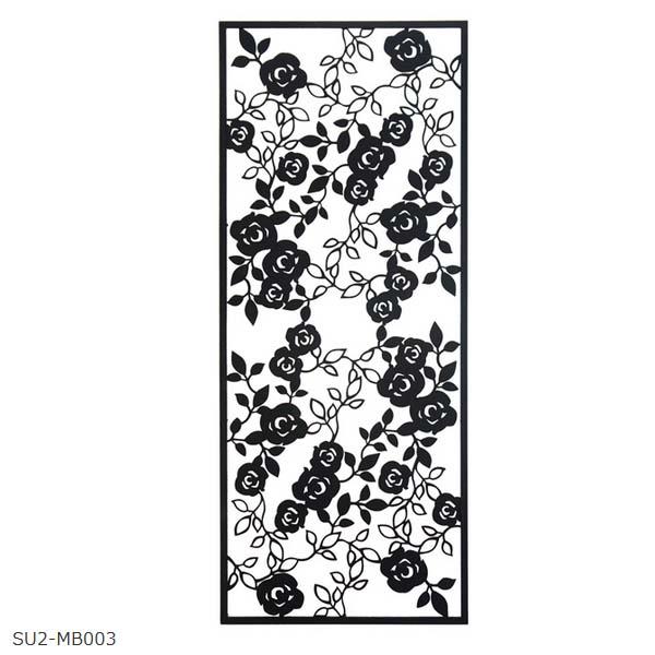 【壁面装飾】ローズパネルB W450×H1100 SU2‐MB003 お庭にも 壁 の装飾に 上品な アイアン の ウォールパネル を お求めやすい価格で!【送料無料!】