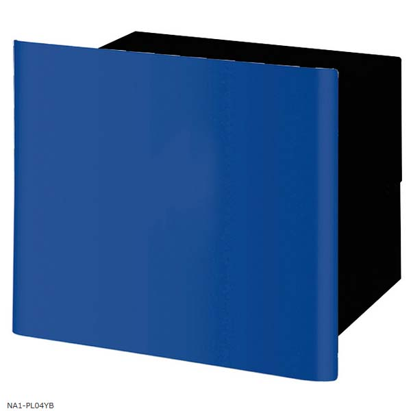 【ポスト】ヴァリオネオ グラフプレーン(graph plain) 色:ロイヤルブルー埋込み(鍵なし)タイプ 郵便受け 郵便ポスト に デザインポスト(前入れ後出し) を お求めすい価格で!【送料無料】