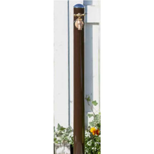 【立水栓】コルム (水栓柱+蛇口) 色:ブラウン1口水栓 お庭 や エントランス に シンプル で スマート な フォルム の 水栓柱 を お求めやすい価格で!【送料無料】