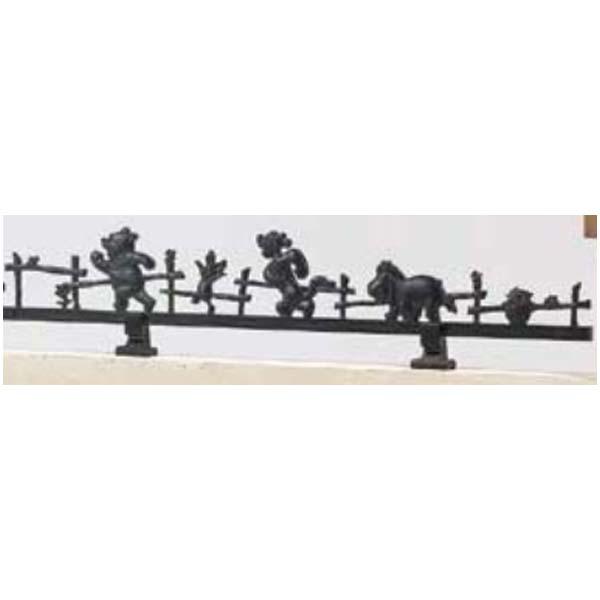 【フェンス】ディズニー ミニフェンス プーさんD型 塀取付タイプ(取付脚2本付き) フェンスユニット デザインフェンス フェンス ユニットフェンス【送料無料】