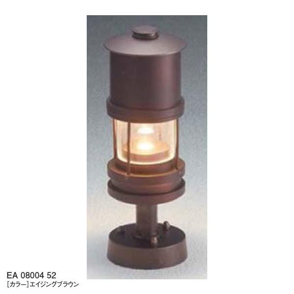 【12V照明】エコルトトップライトEA 08004 52(門柱取付け) LED(電球色) 色:エイジングブラウンユニソン エントランス を照らす トップライト をお求めやすい価格で! 【送料無料!】
