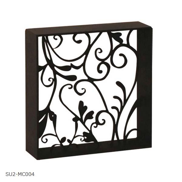 【壁面装飾】アールパネル W190×H190(枠付き) SU2‐MC004 お庭にも 壁 の装飾に 上品な アイアン の ウォールパネル を お求めやすい価格で!【送料無料!】