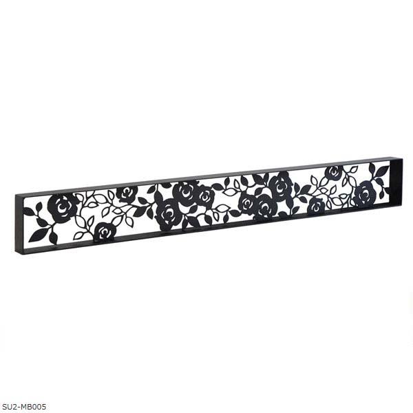 【壁面装飾】ローズパネルB 横長タイプ W1080×H130(枠付き)SU2‐MB005 お庭にも 壁 の装飾に 上品な アイアン の ウォールパネル を お求めやすい価格で!【送料無料!】