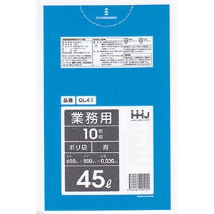 ゴミ袋GL41 今だけ限定15%OFFクーポン発行中 超特価 徳用ごみ袋45L青600枚 10枚×パック