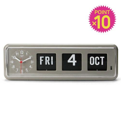 ( 送料無料 ) ( ポイント10倍 ) パタパタ 時計 おしゃれ 日付 トゥエンコデジタルカレンダークロック 【 TWEMCO / トゥエンコ 】Twemco Digital Calendar Clock カレンダー 付き フリップ時計 新築 開店 祝い プレゼント / WakuWaku