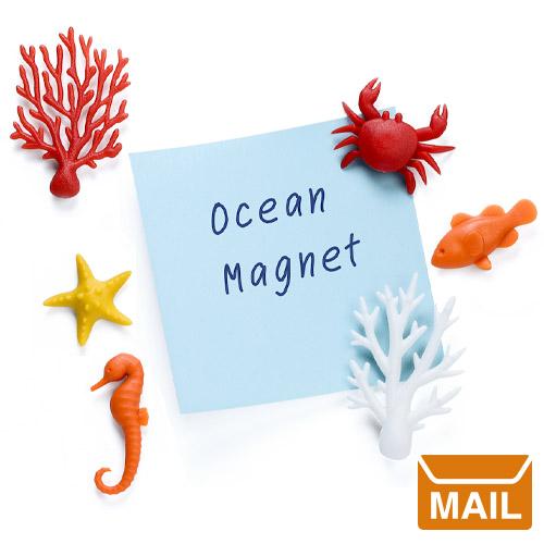 文房具 おしゃれ カラフルな色が魅力 海のかわいいマグネット 6個セット 新品未使用 小さいながらも しっかり強力 インテリア 冷蔵庫 ネオジウム磁石 プレゼント メール便 磁石 かわいい QUALY 強力 ECOLOGY ビーチ サンゴ Magnet 訳あり品送料無料 マグネット おもしろ クオーリー 海 オーシャン カニ WakuWaku