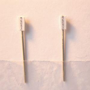 Nゲージ鉄道模型ストラクチャー【パーツ】踏切注意看板 2個セット (ジオラマ)20120203