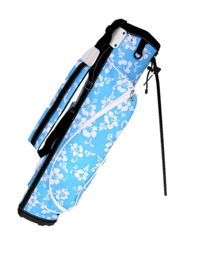 アロハな気分でショートコースや練習場に最適キャディバッグ 送料無料 ゴルフバッグ セール開催中最短即日発送 売り込み スタンドハーフセットが楽に入ります スタンド 6.5型 アロハ調ゴルフバッグ ハーフ