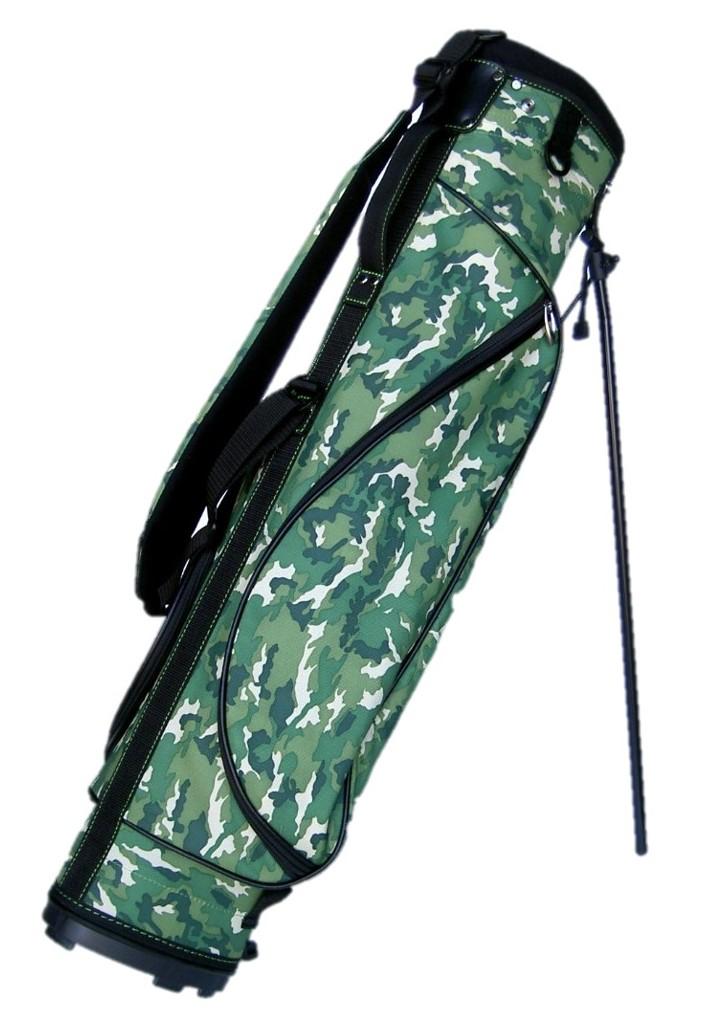 カッコ良いカモ柄グリーン 実物 ショートコースや練習場に最適キャディバッグ 送料無料 ゴルフバッグ スタンドハーフセットが楽に入ります 6.5型 スタンド [再販ご予約限定送料無料] ハーフ カモ柄グリーンゴルフバッグ
