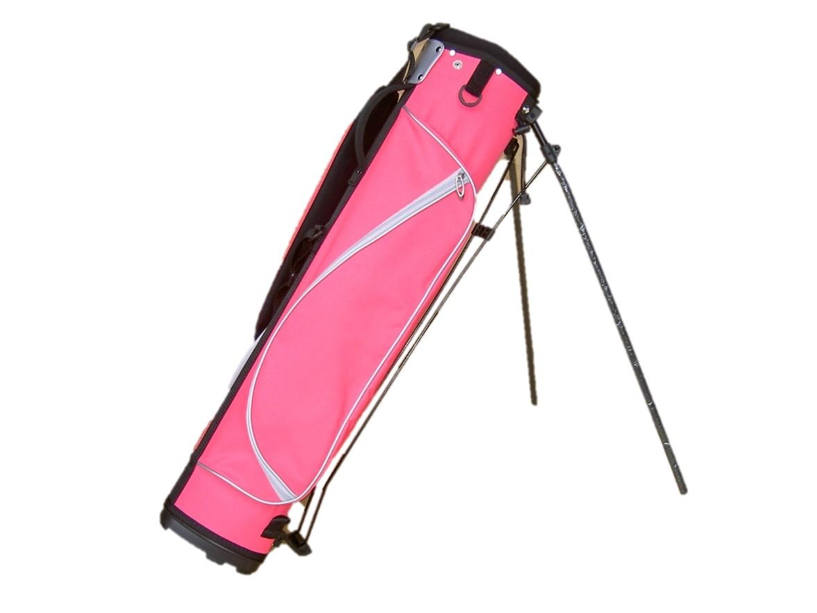可愛く目立つ ショートコースや練習場に最適キャディバッグ 送料無料 ゴルフバッグ 人気上昇中 スタンドハーフセットが楽に入ります 予約販売品 かわいいピンク色ゴルフバッグ 6.5型 ハーフ スタンド
