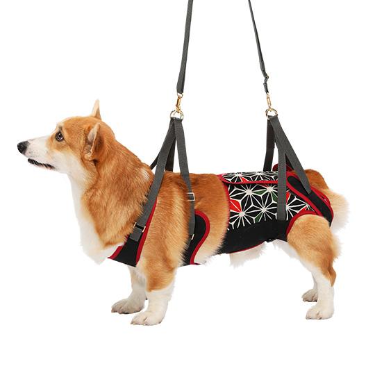 学生服の「トンボ」が犬用歩行補助ハーネスを開発しました。 犬 歩行補助ハーネス 介護 ハーネス 胴輪 LaLaWalk ララウォーク 中型犬 コーギー用 KABUKI CM/CL いぬ イヌ 老犬 介護用品 散歩 小型 ドッグハーネス 介護用 補助器具 リード 歩行補助 胴輪 キャバリア ウエルシュコーギー ビーグル 柴 犬用 介護