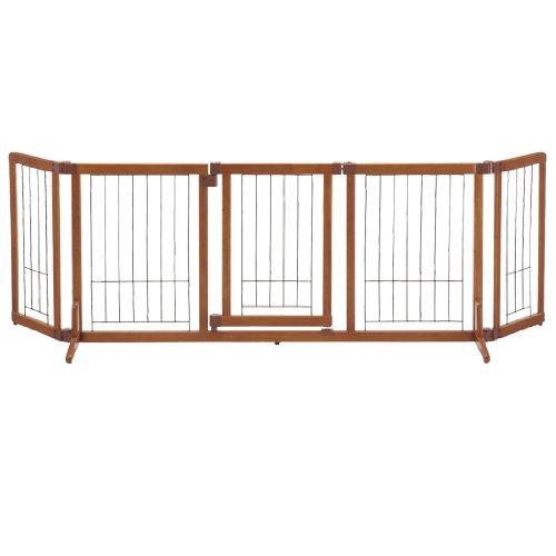 実物 リッチェル 国内送料無料 ペット用 木製おくだけドア付ゲート L