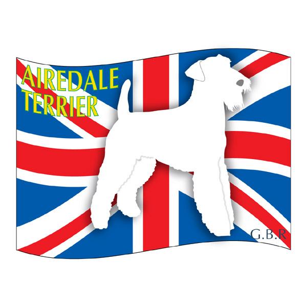 犬の産出国の国旗がバックでカッコいい エアデールテリア グッズ ステッカーはた《Lサイズ》 ステッカー シール デカール シルエット 車 いぬ スーツケース 犬 本日の目玉 バイク カー 影 イヌ 海外並行輸入正規品 アクセサリー リア