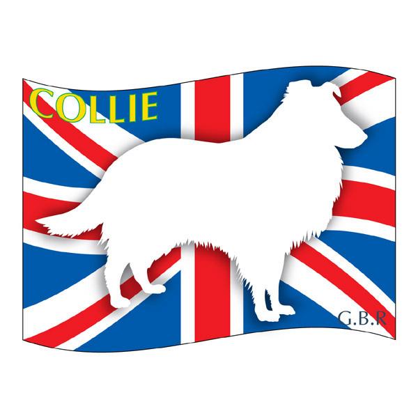 人気商品 犬の産出国の国旗がバックでカッコいい コリー グッズ ステッカーはた《Mサイズ ブランド品 2枚セット 》 ステッカー シール デカール シルエット バイク スーツケース アクセサリー 配送員設置送料無料 影 リア イヌ 車 犬 いぬ カー