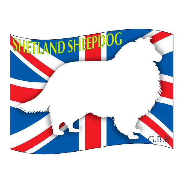 犬の産出国の国旗がバックでカッコいい シェットランドシープドッグ グッズ ステッカーはた《Lサイズ》 ステッカー シール 2020モデル デカール シルエット 車 バイク いぬ スーツケース 影 アクセサリー イヌ カー 犬 リア 激安挑戦中