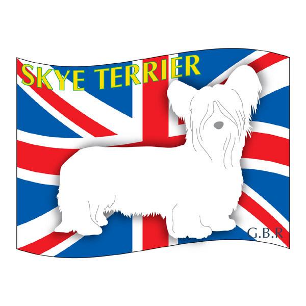 人気商品 犬の産出国の国旗がバックでカッコいい スカイテリア グッズ ステッカーはた《Mサイズ 2枚セット 》 ステッカー シール デカール シルエット 犬 本店 影 カー いぬ イヌ スーツケース アクセサリー バイク セットアップ 車 リア