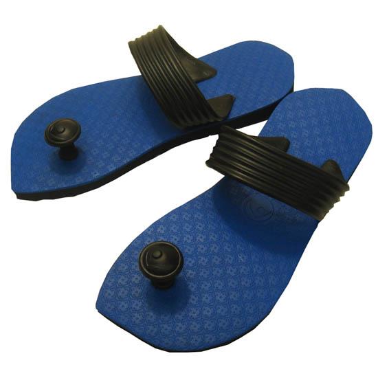 Eyes nail pickles! Design beach sandal Suwa me (Swamisz) unisex light blue of Indian tradition & Australia