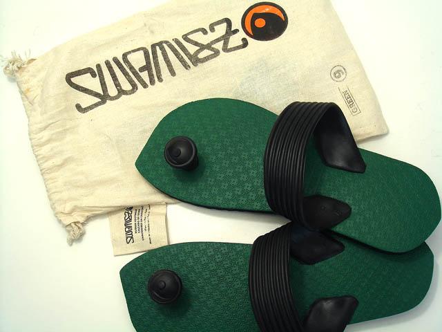 Eyes nail pickles! Design beach sandal Suwa me (Swamisz) unisex green of Indian tradition & Australia