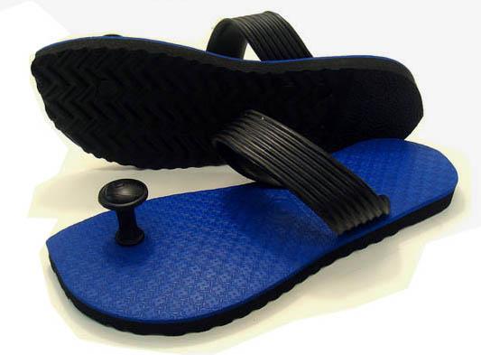 Gaze riveted! Traditions of India & Australia design flip flop スワミーズ ( Swamisz ) unisex dark blue
