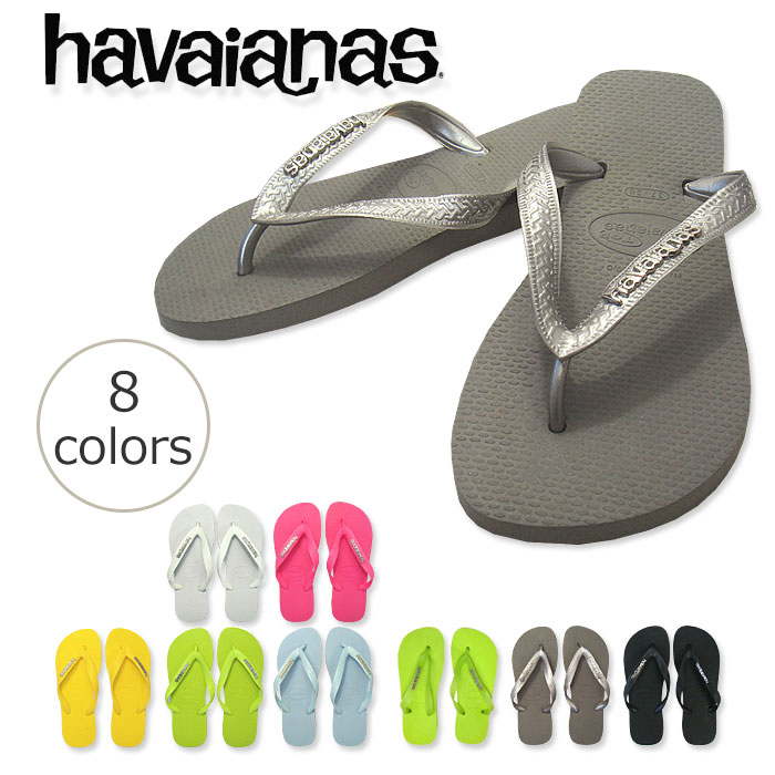 50% Off havaianas logo-metal type dropped items half price Beach Sandals King Havaianas LOGO METALLIC SILVER ロゴメタリック silver unisex claiming special model ladies mens