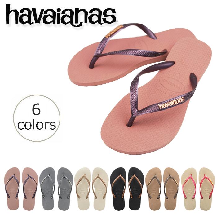 Havaianas Slim Logo Metallic Flip Flop Sandals uE1Bb