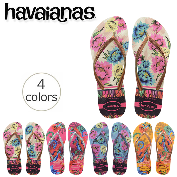 I cut it because of the old product for the beach sandal havaianas slim  tropical (SLIM TROPICAL) Lady s woman 9ae7020f4