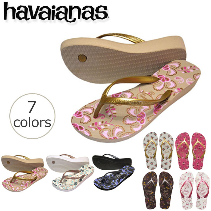 dadeae4085f5 Flip flops havaianas high light II thick bottom heel height 3.5 cm (HIGH  LIGHT II) women s Dancewear
