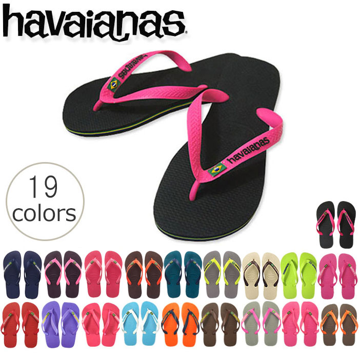 havaianas BRASIL LOGO The World's Best Rubber Flip Flops