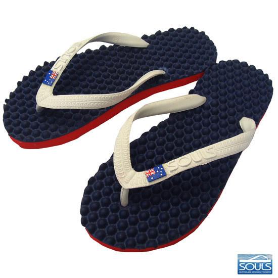 沙灘涼鞋的腳腳底按摩極大地影響 ★ 輪胎回收生態 Sundar 靈魂 (靈魂) 中性航海標誌