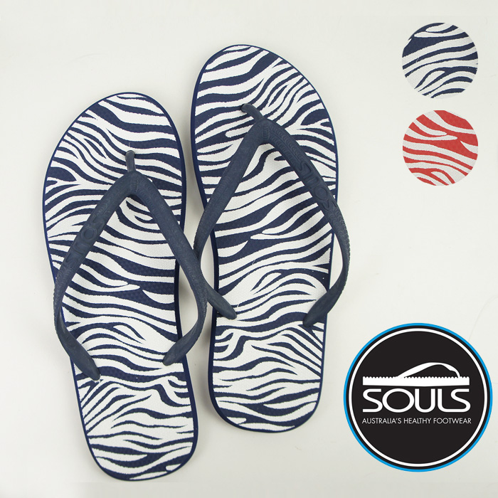 68abbbb7865c A surfer of beach sandal Australia grounds unisex red made by a design soul  (Souls) natural rubber