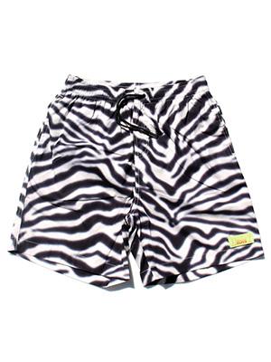 デイリーペーパー DAILY PAPER ショーツ ZEBRA HALI SHORT PANTS -BLACK×WHITE- メンズ S-XL ゼブラ柄 ブラック×ホワイト