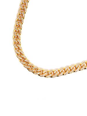NECKLACE ADVANCE ゴールドネックレス メンズ GOLD アドバンス -40cm×0.8cm- ゴールド