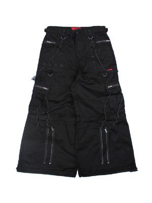 トリップニューヨークシティ TRIPP NYC ジップオフ ワイド カーゴパンツ BLACK BLACK ZIP OFF PANTS -BLACK- メンズ ユニセックス M-L ブラック