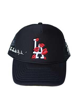 1万円以上で送料無料 LA 日本未発売 ROPA メッシュキャップ ブラック ラ ロパ TRUCKER ロゴ 情熱セール 帽子 メンズ HAT -BLACK- 刺繍