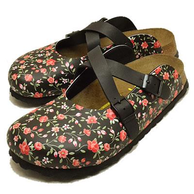 BIRKENSTOCK Papillio(birukenshutokkupapirio)Rowley(羅利)英語花園黑色[鞋、涼鞋·椰子鞋]