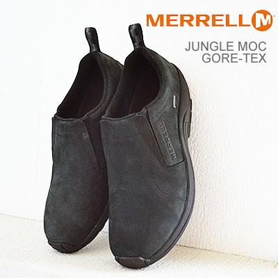 【5/5限定・カードでPOINT10倍・要エントリー】MERRELL(メレル) JUNGLE MOC GORE-TEX (ジャングルモック ゴアテックス) BLACK(ブラック) [靴・スニーカー・シューズ・スリップオン]