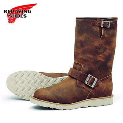 """紅翼紅靴 2971年 11 英寸工程師鰨 RW 2971 11""""工程師/墊層鞋底銅粗糙和艱難的銅粗 & 強硬"""