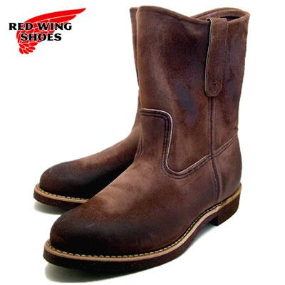 """RED WING紅翅膀長筒靴8189 9 inchipekosuropa RW-8189 9""""PECOS ROPER胡桃黑尾鹿斯金納WALNUT MULESKINNER[工作長筒靴·pekosuropa、MADE IN USA]"""