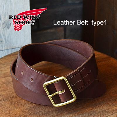 RED WING レッドウィング Heritage Belt ヘリテージベルト Leather Belt type1 レザーベルト タイプ1 【40mm幅】 Havana Brown ハバナ ブラウン USA 米国製