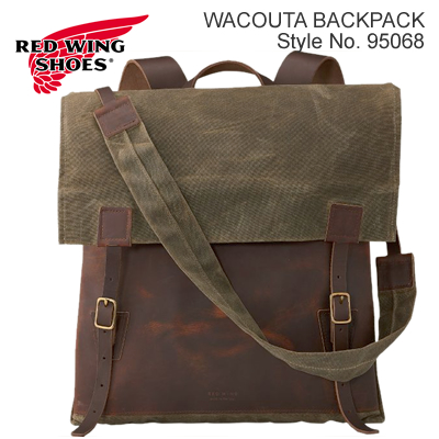 RED WING レッドウィング Wacouta Backpack ワクータ バックパック Copper Rough&Tough Leather/Tan Waxed Canvas カッパー・ラフアンドタフレザー/タン・ワックスドキャンバス【480mm×430mm】リュック バッグ MADE IN USA 米国製