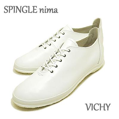 【5/5限定・カードでPOINT10倍・要エントリー】SPINGLE MOVE スピングルムーヴ スピングルムーブ SPINGLE nima スピングルニーマ VICHY NIMA-123 WHITE ホワイト 靴 レディーススニーカー シューズ スピングル