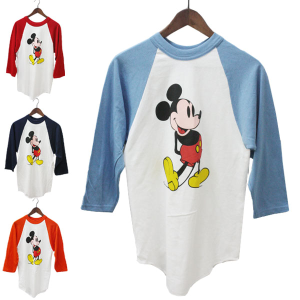 2fe4eedc16f MICKEY UNLIMITED ( Mickey unlimited ) Mickey Mouse long sleeved Raglan T shirt  mens