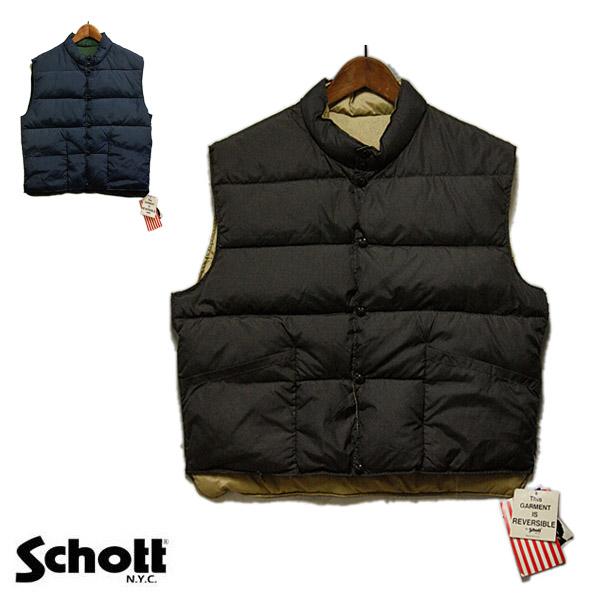 schott ( ショット ) ダウンベスト メンズ 【USAデッドストック】 ベスト ブラウン ベージュ ネイビー グリーン カジュアル きれいめ アメリカ