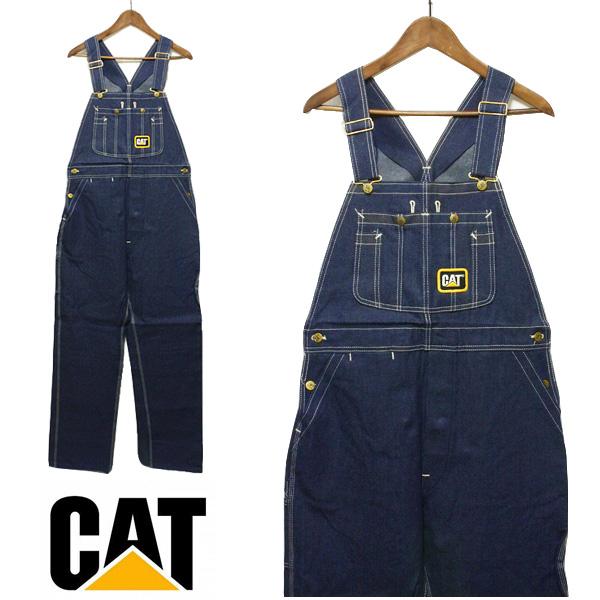 CAT CATERPILLAR(履帶)粗斜紋布連褲工作服人,USA,美國,名牌,海外,靛藍,深藍,藏青色,藍色,休閒,滯銷商品,罕見的罕見