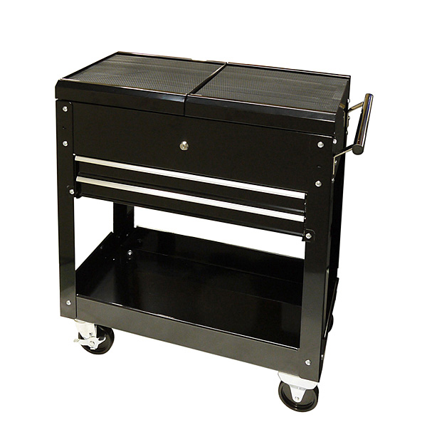 (k1150)スライド天板 ツールカート黒【ツールボックス 工具箱】