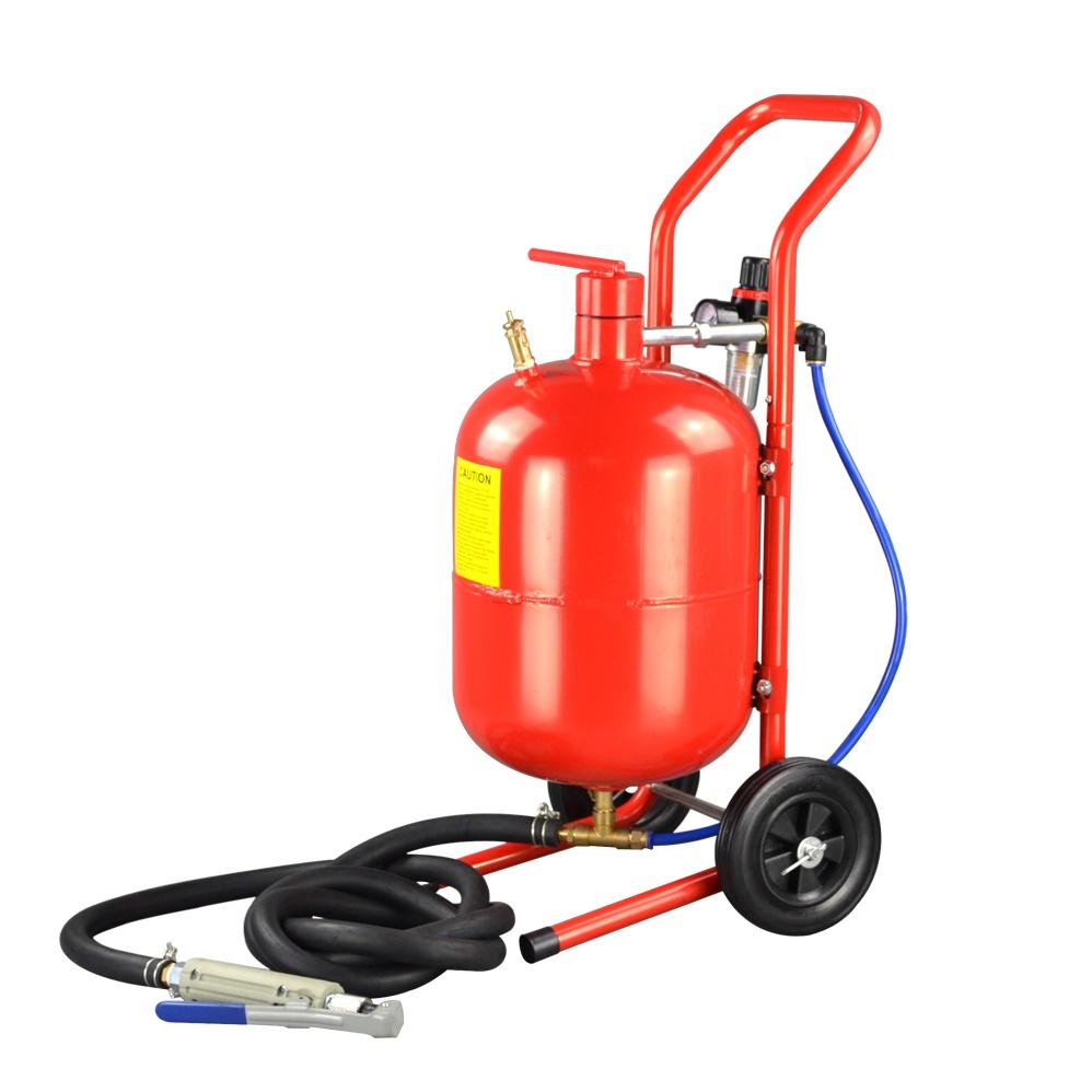 【大型商品・送料無料対象外】k1296 直圧サンドブラスター 5ガロン(赤)