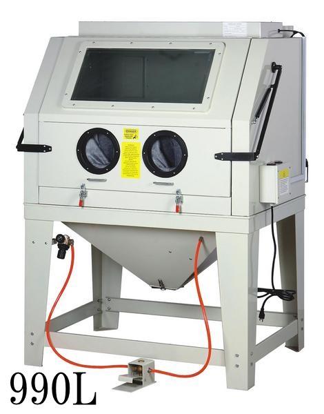 【大型商品・送料無料対象外】吸塵機付き大型サンドブラスト990ホワイト(k465)