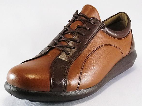 【SPORTH】スポルス5001ブラウンコンビ4E【婦人靴】【天然皮革】【幅広】【国産】