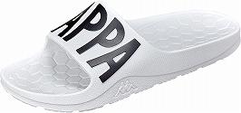 【Kappa】KP-BRU57ホワイト/ブラック【シャワーサンダル】【婦人靴】【セルビーレ】【一体成型】